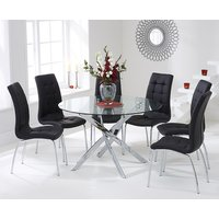 Read more about Denver 120cm glass dining table with calgary chairs