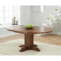 Torino Dark Oak Extending Pedestal Dining Table