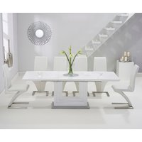 Read more about Tula 160cm white high gloss extending dining table with hampstead z chairs