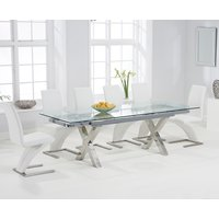 Celeste 160cm Extending Glass Dining Table with Hampstead Z