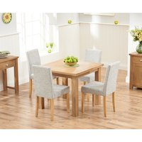 Somerset 90cm Flip Top Oak Dining Table with Mia Fabric
