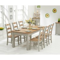 Somerset 180cm Oak and Grey Extending Dining Table with