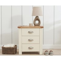 Read more about Somerset oak and cream 3 drawer bedside table