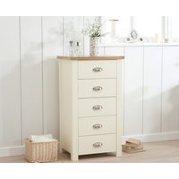 Read more about Somerset oak and cream 5 drawer chest