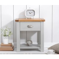Read more about Somerset oak and grey bedside table