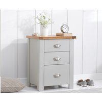 Read more about Somerset oak and grey tall 3 drawer bedside table