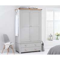 Read more about Somerset oak and grey two door two drawer wardrobe