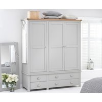 Read more about Somerset oak and grey 3 door 4 drawer wardrobe