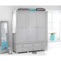Read more about Somerset grey 3 door 4 drawer wardrobe