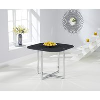 Product photograph showing Algarve Grey Glass Dining Table