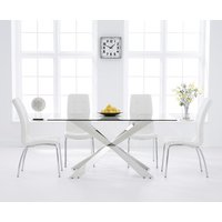 Juniper 160cm Glass Dining Table with Calgary Chairs