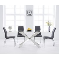 Juniper 160cm Glass Dining Table with Cavello Chairs