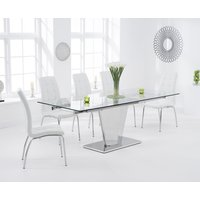 Liberty 160cm Extending Glass Dining Table with Calgary Chai