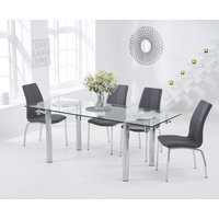 Read more about Geneva 140cm glass extending dining table with cavello chairs