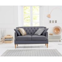 Read more about Charlotte chesterfield grey leather 2 seater sofa