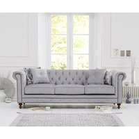 Read more about Milano chesterfield grey fabric 3 seater sofa