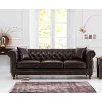 Read more about Milano chesterfield brown leather 3 seater sofa