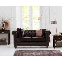 Read more about Milano chesterfield brown leather 2 seater sofa