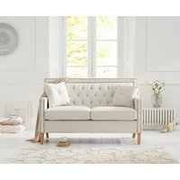 Chatsworth Chesterfield Ivory Fabric 2 Seater Sofa
