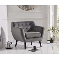 Read more about Thor grey velvet accent chair