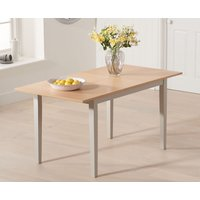 Chiltern 120cm Oak and Grey Extending Dining Table