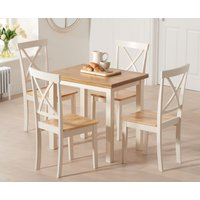 Hastings 60cm Oak and Cream Extending Dining Table with Epso