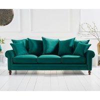 Read more about Everson green velvet 3 seater sofa