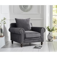 Read more about Everson grey velvet armchair