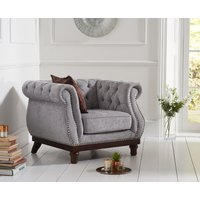 Read more about Henbury chesterfield grey plush fabric armchair