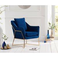 Read more about Lillia blue velvet accent chair