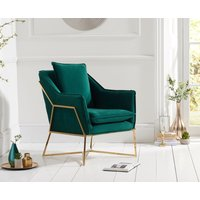 Read more about Lillia green velvet accent chair