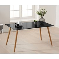 Read more about Maida vale 130cm matt black dining table