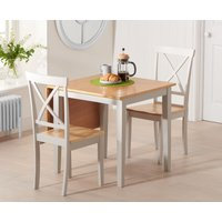 Milton 75cm Oak and Grey Extending Dining Table with Epsom C