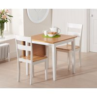 Milton 75cm Oak and White Extending Dining Table with Chilte