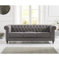 Read more about Milano chesterfield grey linen fabric 3 seater sofa