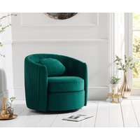 Read more about Sadie green velvet swivel chair