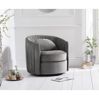 Read more about Sadie grey velvet swivel chair