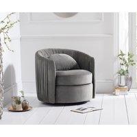 Read more about Sadie grey velvet swivel chair