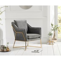 Read more about Lillia grey velvet accent chair