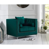 Read more about New jersey green velvet armchair