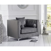Read more about New jersey grey velvet armchair