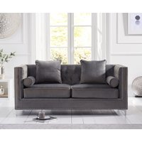 Product photograph showing New Jersey Grey Velvet 3 Seater Sofa