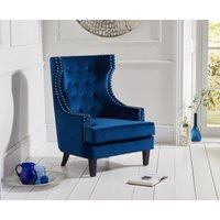 Read more about Pamela blue velvet accent chair