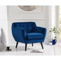 Read more about Thor blue velvet accent chair