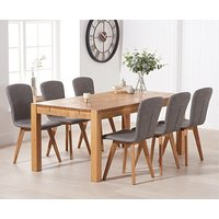 Verona 150cm Solid Oak Dining Table with Tivoli Faux