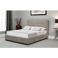 Read more about Kettner stone fabric ottoman double bed