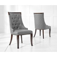 Product photograph showing Angelica Grey Faux Leather Dining Chairs Pairs