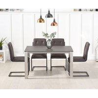 Read more about Antonia 130cm mink/brown spanish ceramic dining table with alana chairs
