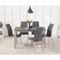 Read more about Antonia 130cm mink/brown spanish ceramic dining table with cavello chairs