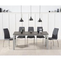 Read more about Antonia 170cm mink/brown spanish ceramic dining table with cavello faux leather chairs